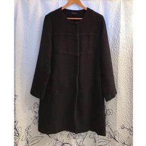 Eileen Fisher Black Tweed Jacket Coat
